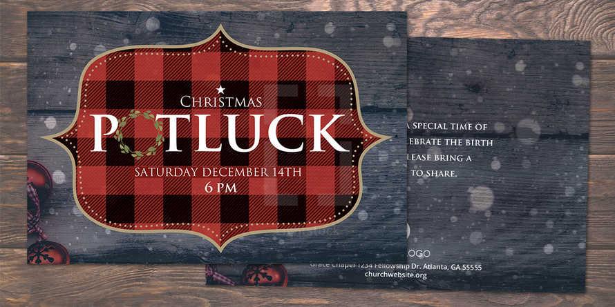 Christmas Potluck Postcard