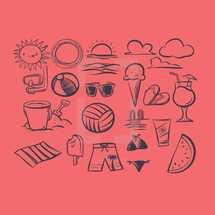 summer illustrations