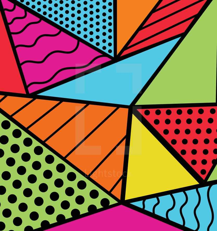 Background pattern design inspired by the rising trend of 90s themed pop culture