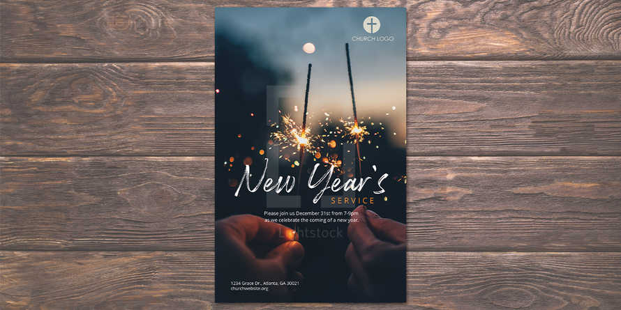New Year's Service Flyer