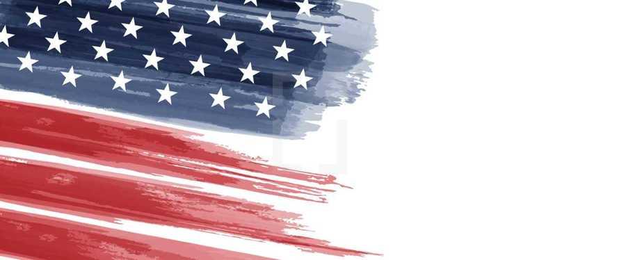 American Flag watercolor