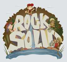 Rock Solid hand drawn lettering