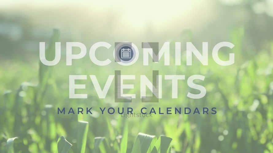 Upcoming Events Slide Set