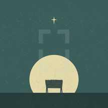manger under starlight