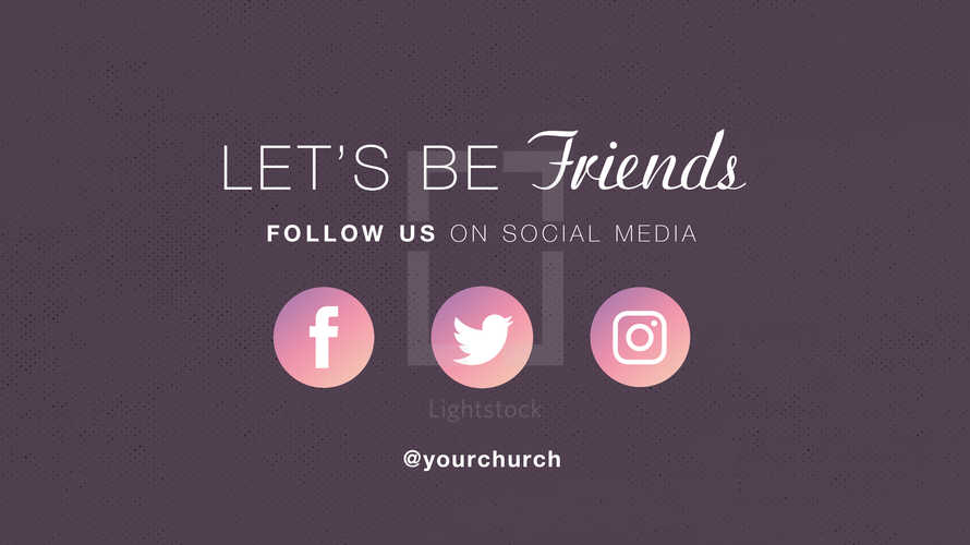 Let's be Friends Social Media Promo Slide
