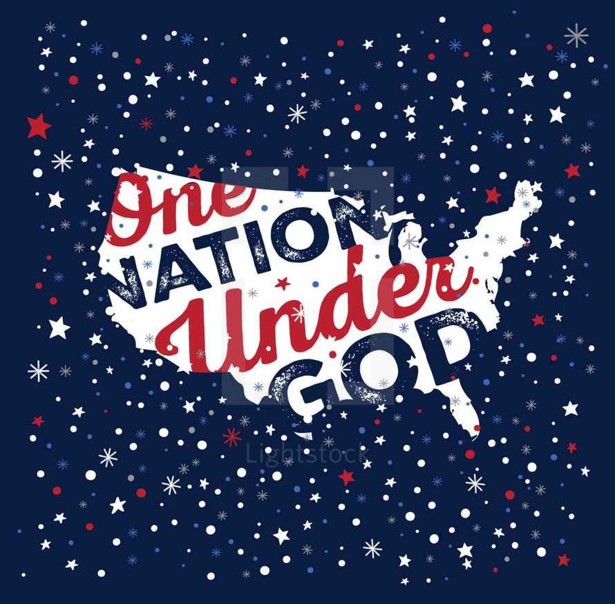United States of America, One Nation Under God