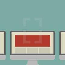 blank computer screen