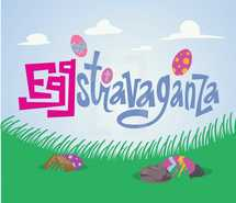 An Easter themed event graphic for your children's ministry