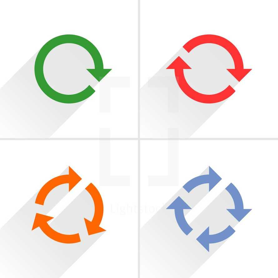 reload icons, refresh sign, rotation arrow, cycle pictogram. Graphic element for design saved as an vector illustration in file format EPS