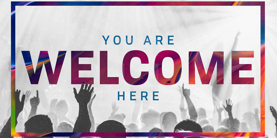 Welcome Worship Colorful slide deck