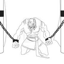 Samson chained