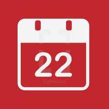 22 calendar date