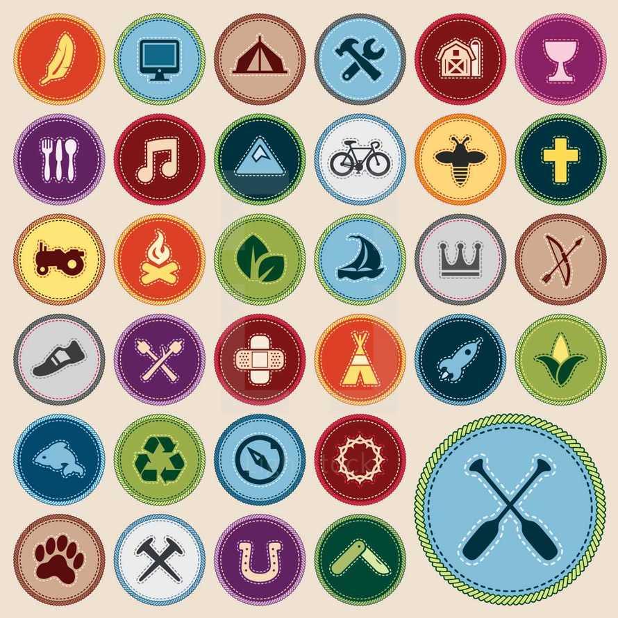 Camp merit badges