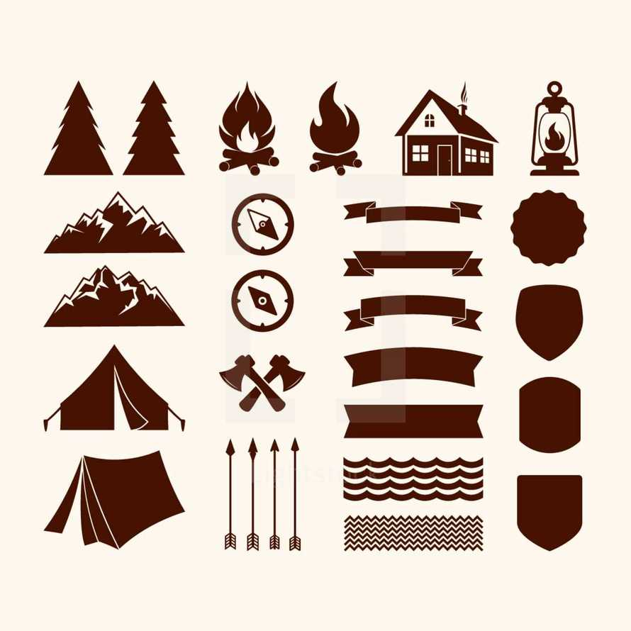 camp icons
