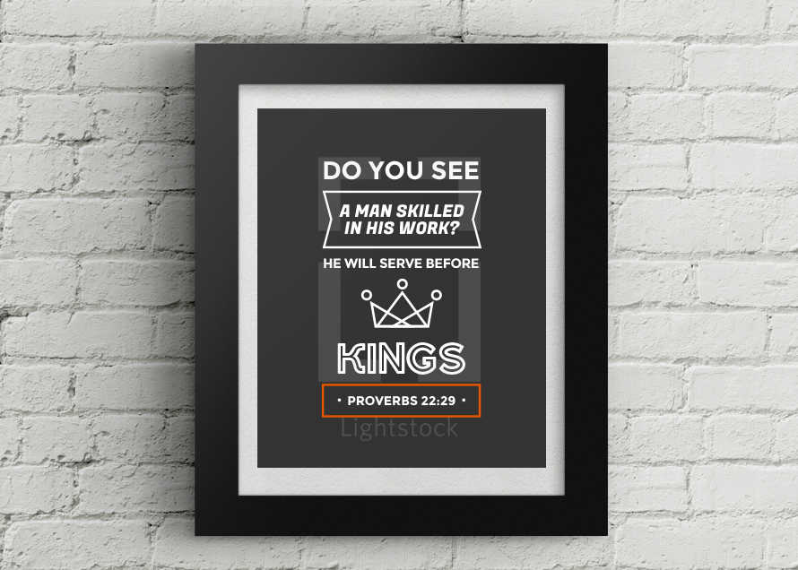 Father's Day or Men's Proverbs Job Print