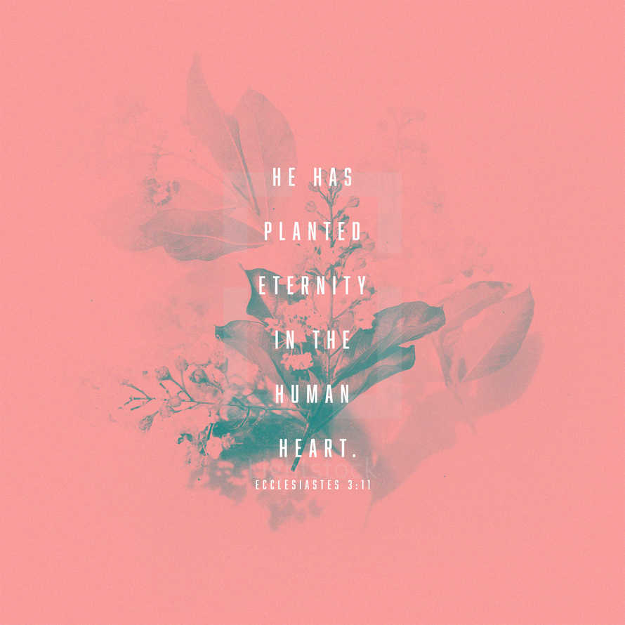 He has planted eternity in the human heart. – Ecclesiastes 3:11
