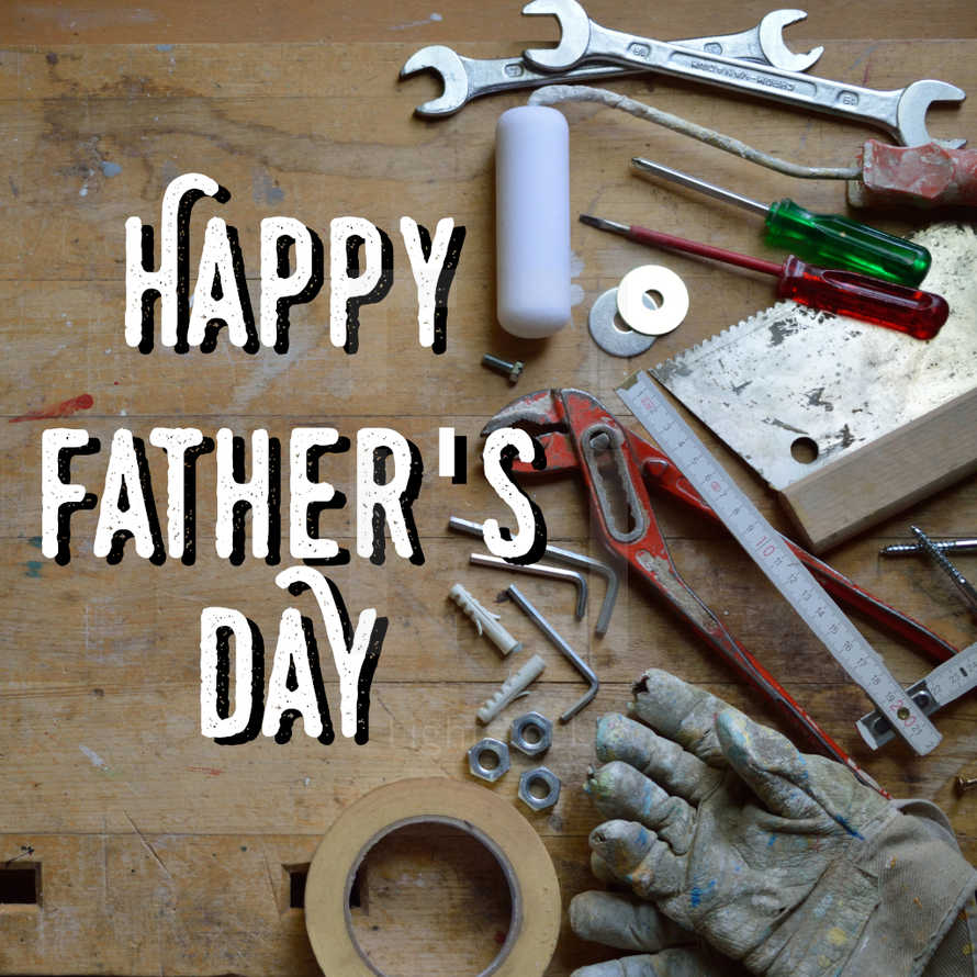 fathers day social graphic with tools