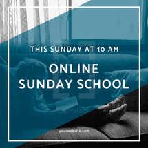 Online Sunday School Social Graphic