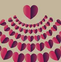 radiating hearts