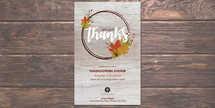 Thanksgiving Dinner Flyer