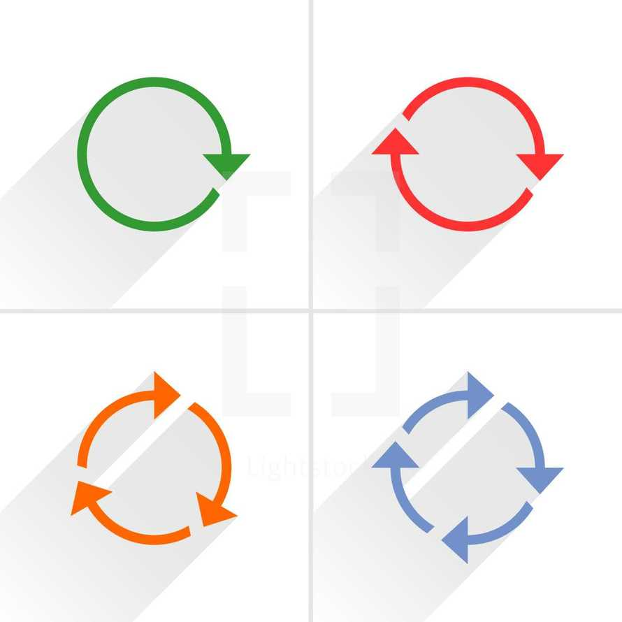 reload icons, refresh arrow, rotation sing, cycle pictogram. Graphic element for design saved as an vector illustration in file format EPS