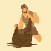 Peter fishing illustration