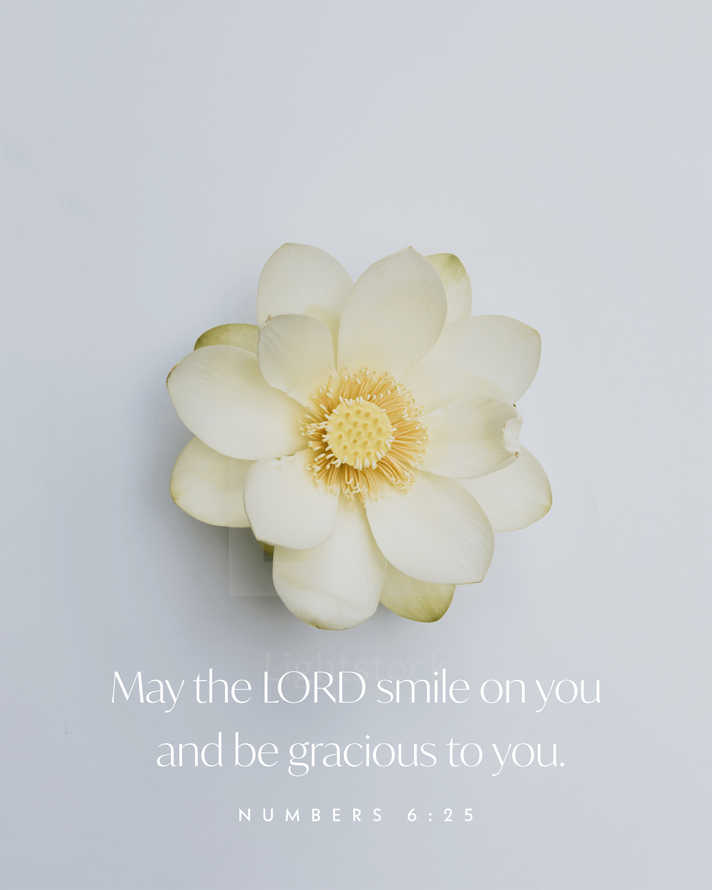 May the LORD smile on you and be gracious to you. – Numbers 6:25