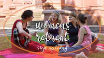 slides for womens retreat - friends sitting on a blanket in the grass singing songs of praise