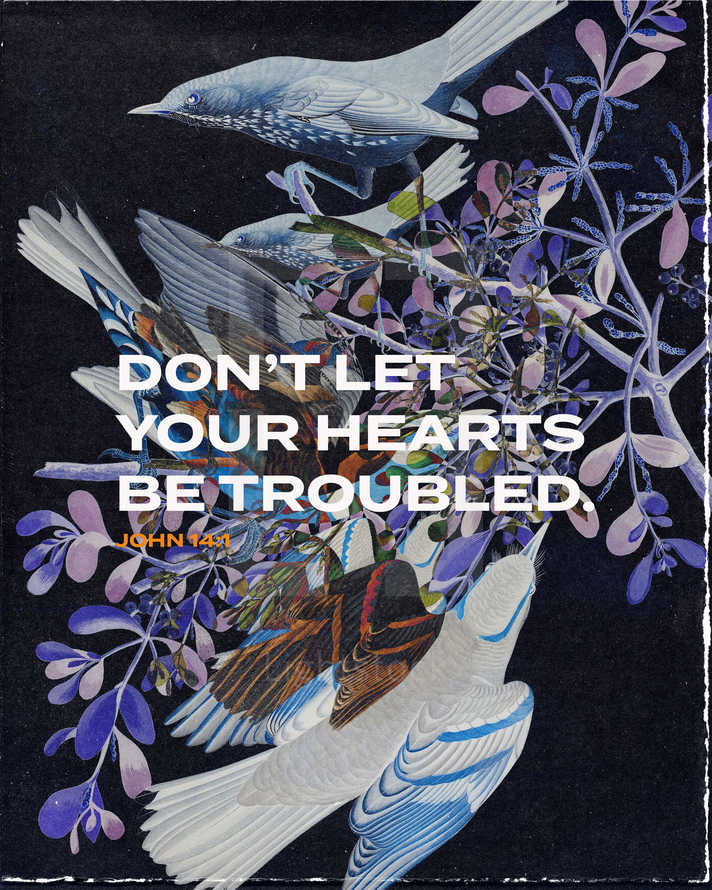 Don't let your hearts be troubled. – John 14:1