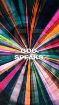 God speaks.