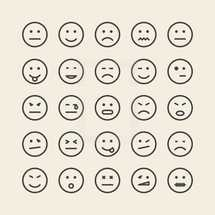 emotions icons.