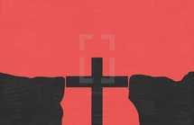 cross as a bridge in a gap