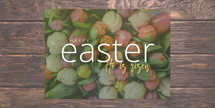 Easter Service Postcard