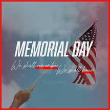 Memorial Day Social Graphic