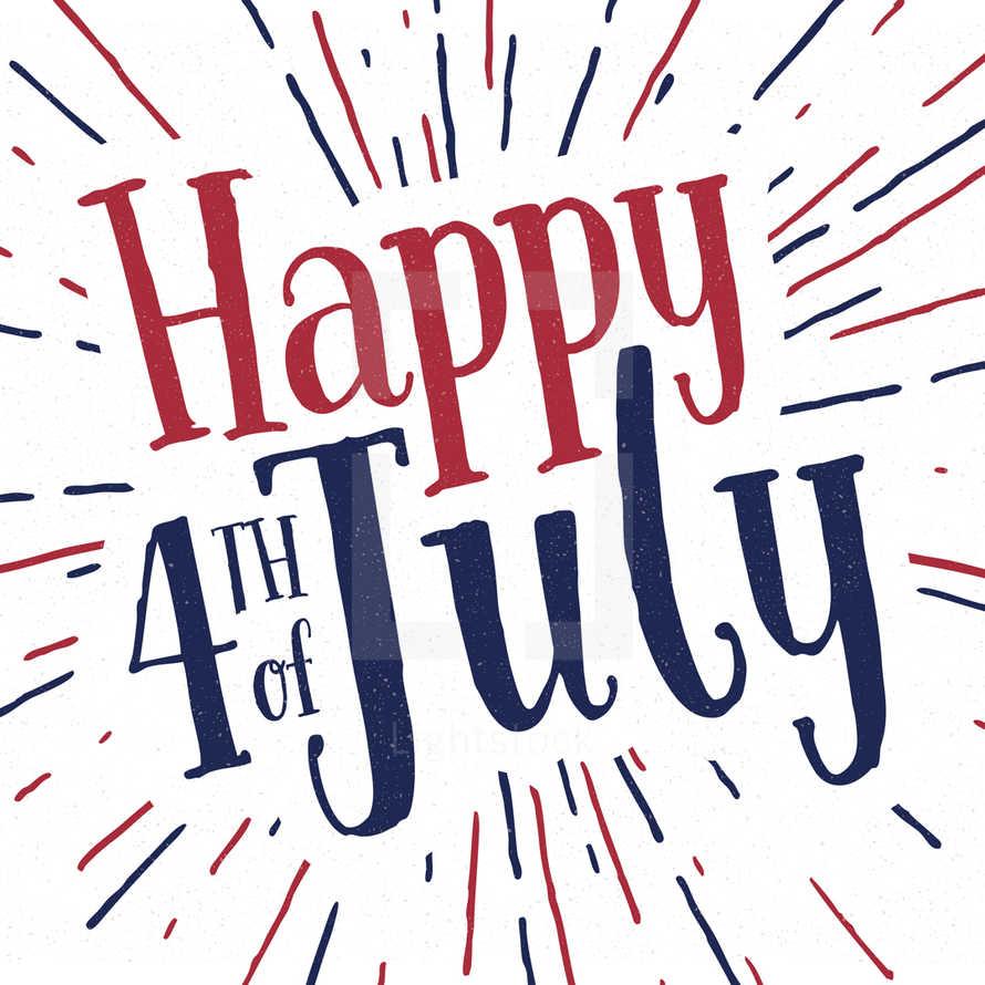 Happy 4th of July - Social Media Graphics