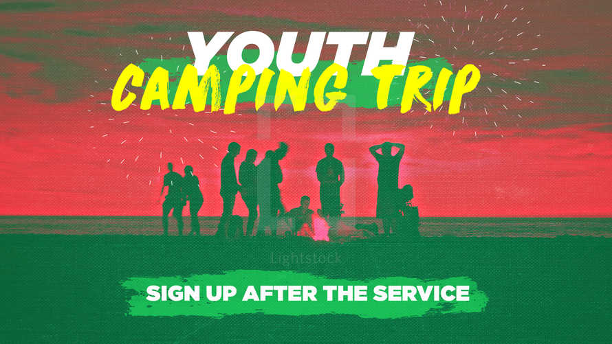 Youth Camping trip slide