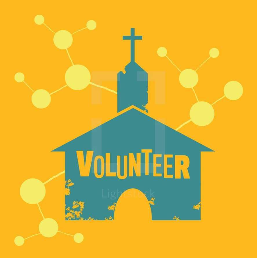 volunteer church vector