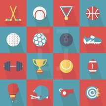 sports icons illustrations.