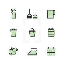 house supplies icons.