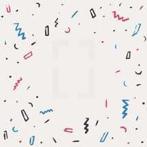 hand drawn confetti