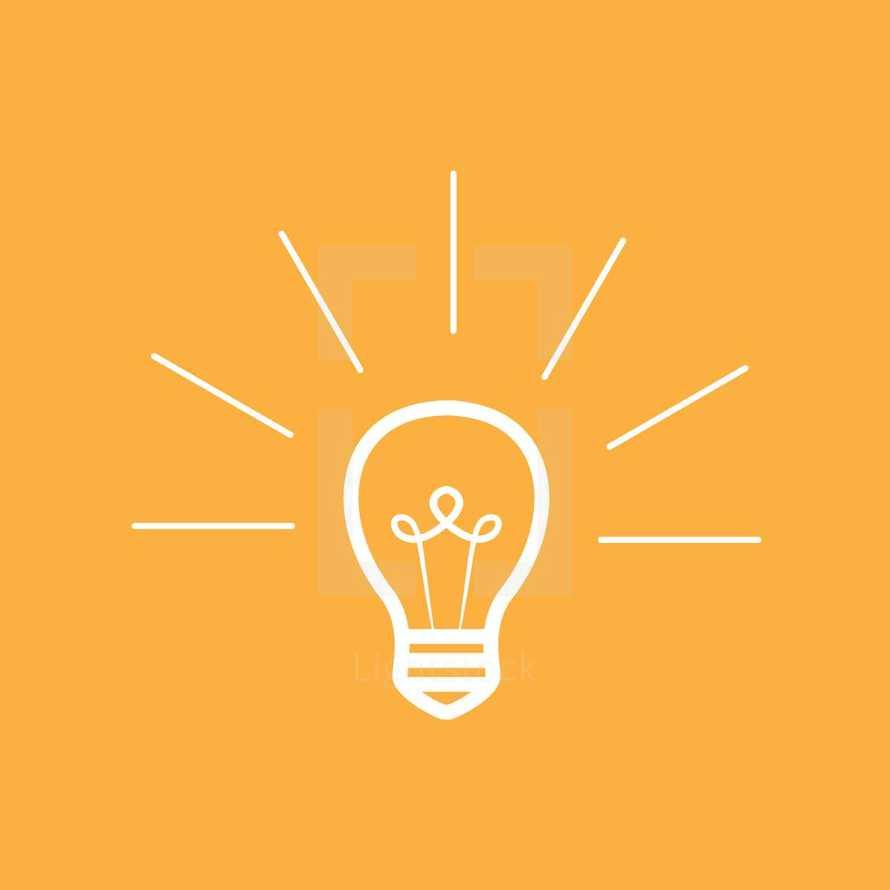 an idea - glowing lightbulb icon.