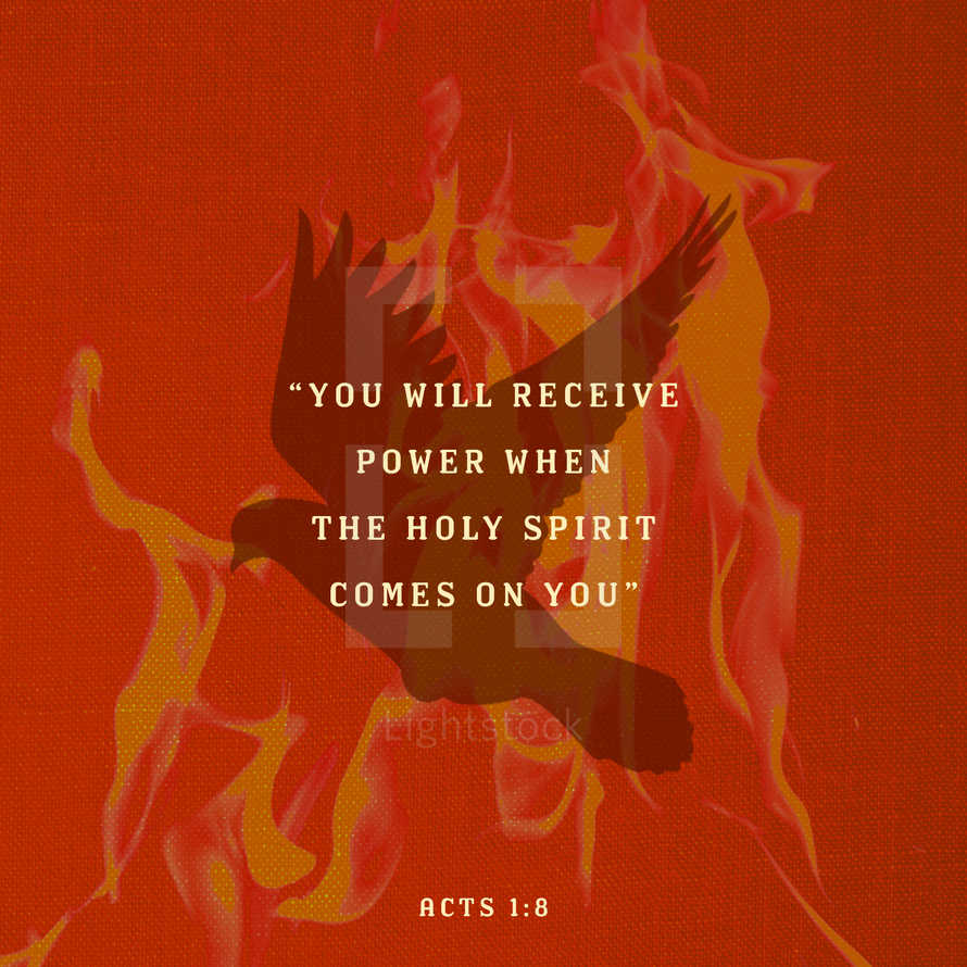 Pentecost Sunday Graphic Acts 1:8 Scripture