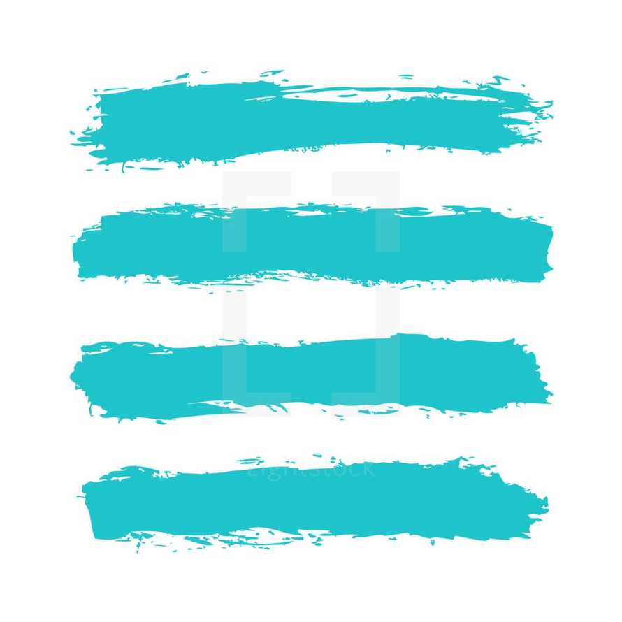 The teal blue paint brush stroke is drawn by hand. Paintbrush drawing on canvas. Hand-drawn brushstroke green turquoise texture on paper. Square shape. Rectangle shape. The graphic element saved as a vector illustration in the EPS file format for used in your design projects.