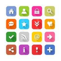social media and internet icon set