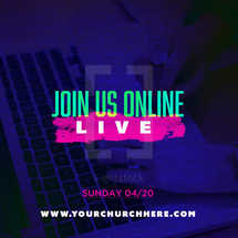 Join us online LIVE social graphic with editable text