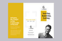 Trifold Brochure - Serving. Knowing. Loving.