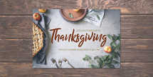 Thanksgiving Potluck Postcard