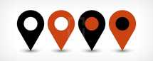 GPS map pin point sign location icon in flat simple style. Graphic element for design saved as an vector illustration in file format EPS