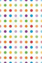 colorful polka dot pattern