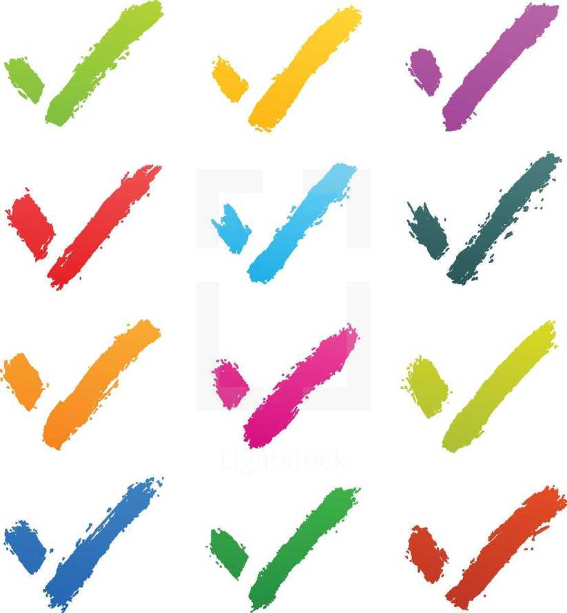 Brushstroke check marks sign on white background. Graphic element for design saved as an vector illustration in file format EPS